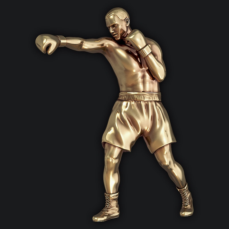 3D Model for 3D Printers - Olympic boxer