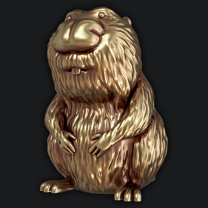 3D Model for 3D Printers - Toy Beaver