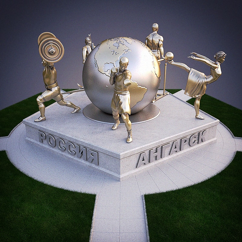 3D Visualization of Olympic monument